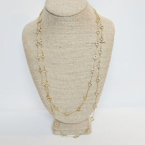 J. Crew Extra Long Gold Chain With Wheels!